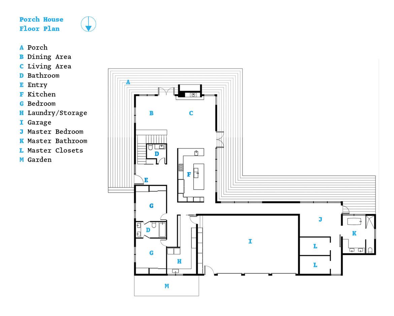 Modern barnhouse renovation floor plan
