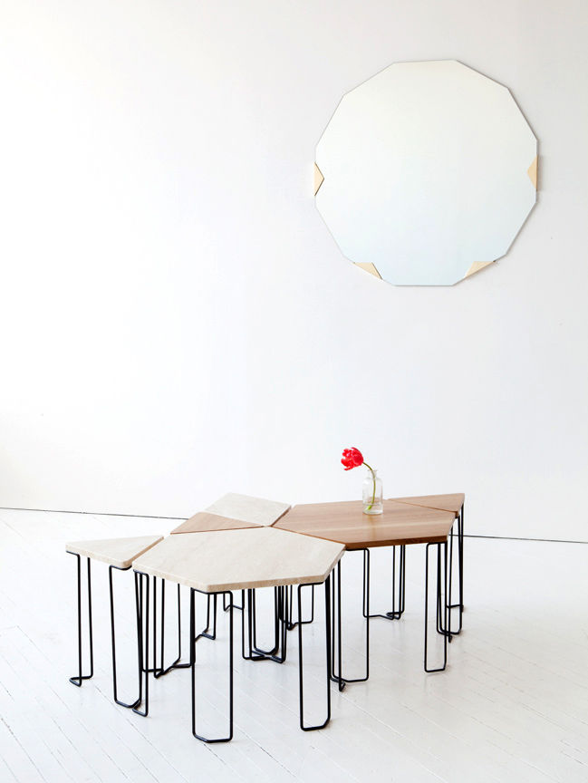 Modern table by Brooklyn design studio Egg Collective