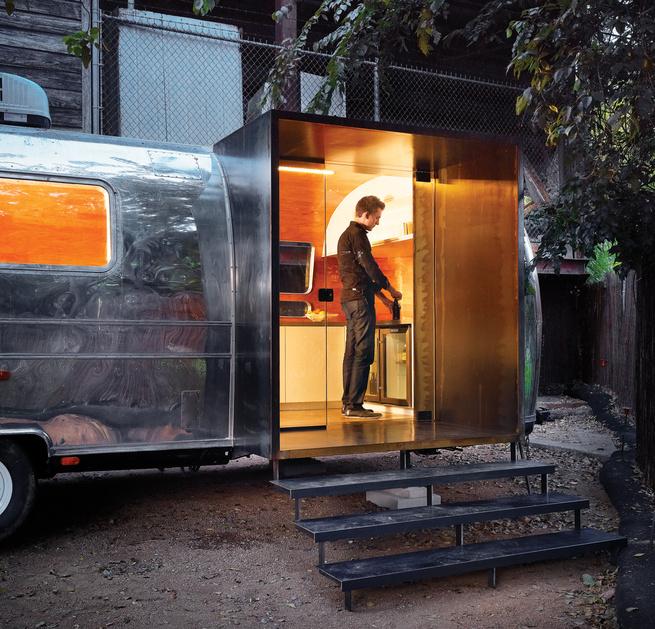 Revamped Airstream trailer by Burton Baldridge