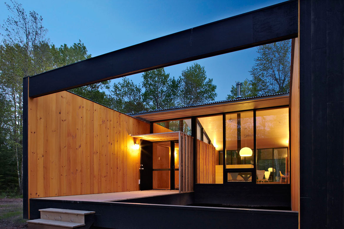 Modular house on Madeline Island, Wisconsin