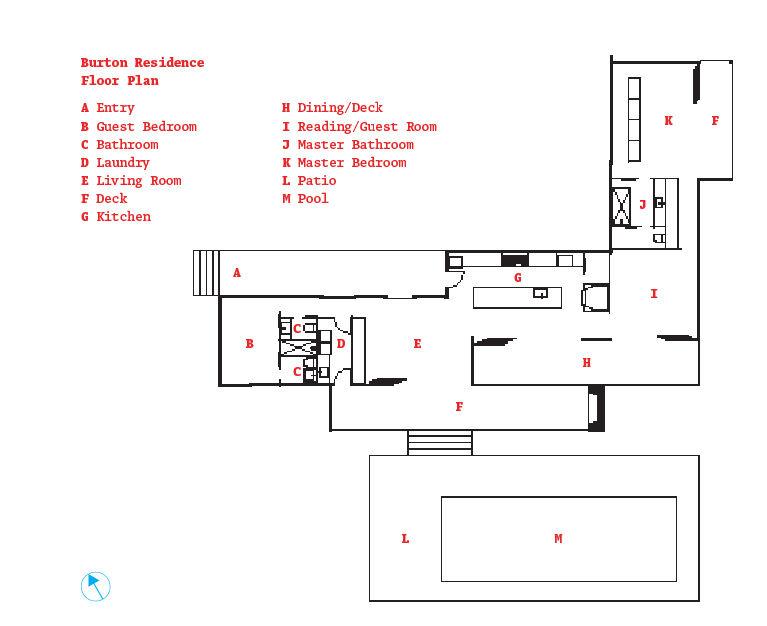Burton residence Ukiah floorplan