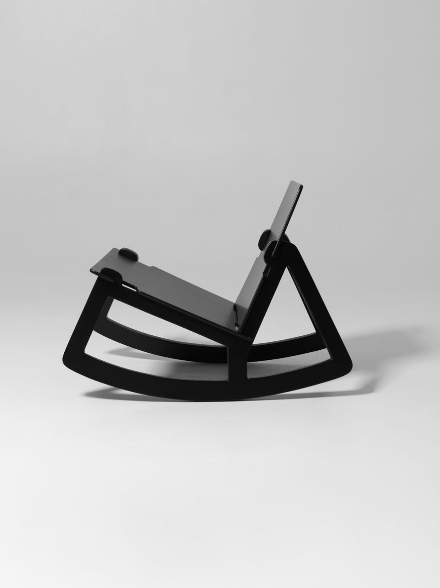 Flat-pack rocking chair by Fredrik Färg for Design House Stockholm