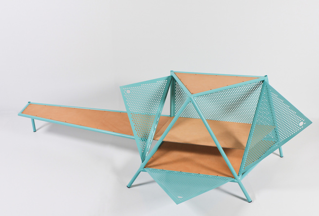 Geometric coffee table by Max Lipsey