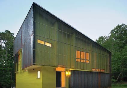 affordable modern green home in North Carolina