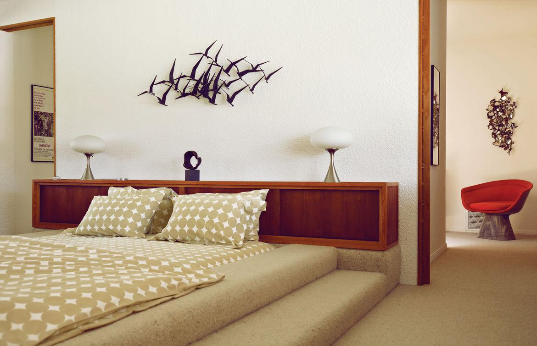 Modern bedroom with Maurice McKenzie-designed bed