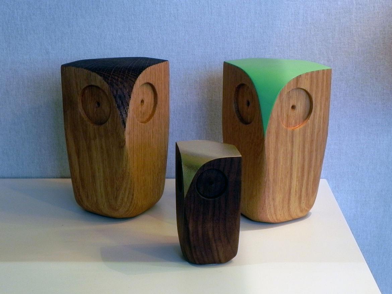 Decorative wooden Owls by Matt Pugh