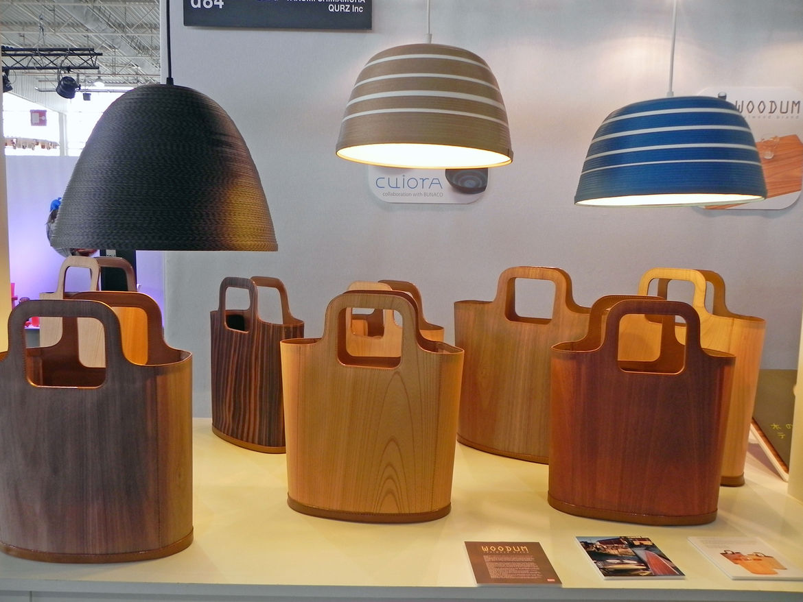Lampshades by Cuiora and Woodum bags