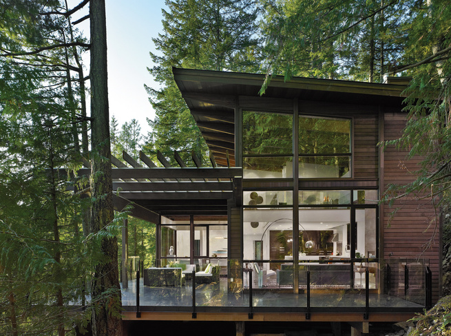Prefab house in British Columbia