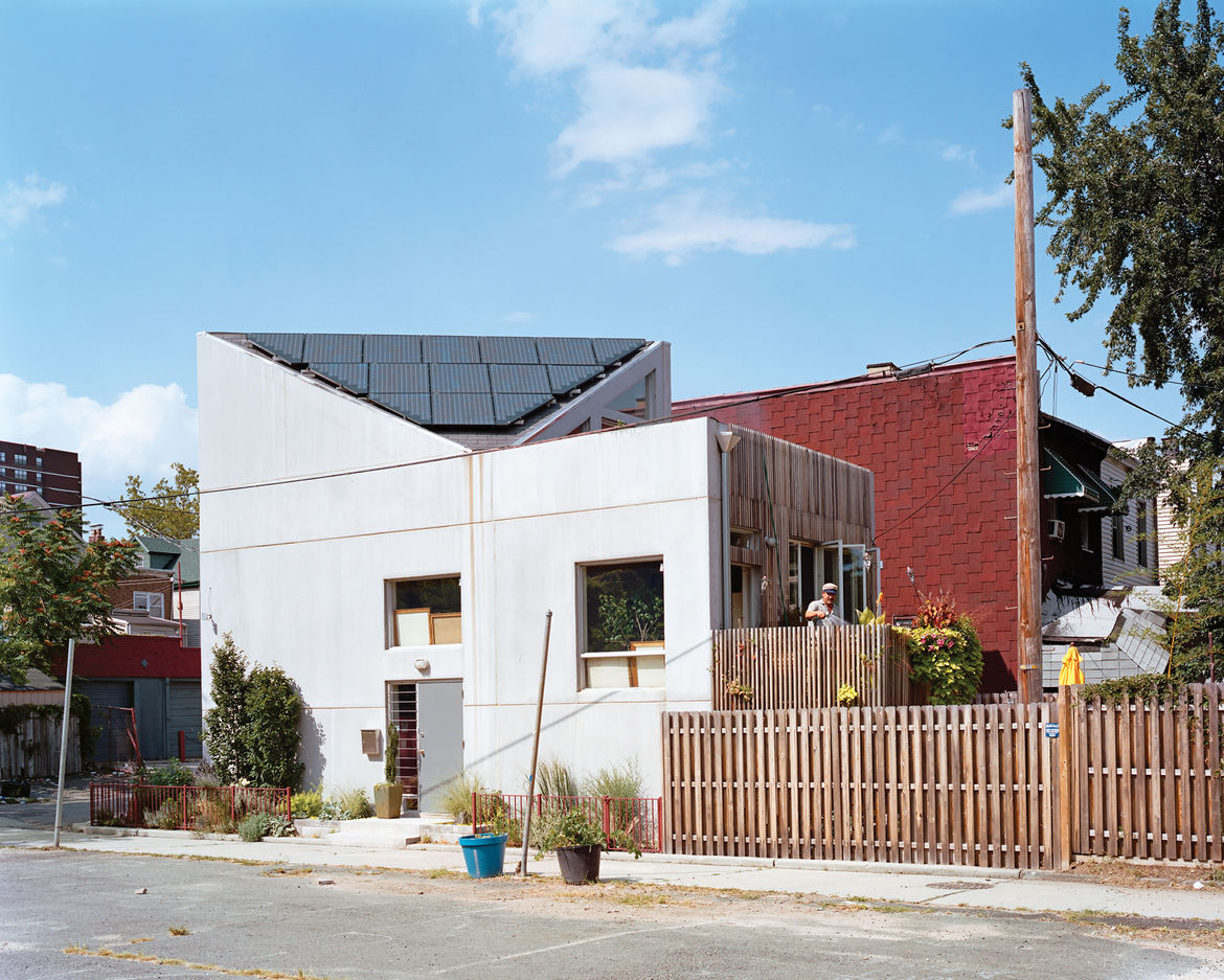 Modern prefab home with insulated concrete panels