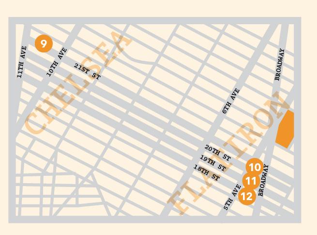 Chelsea New York map illustration