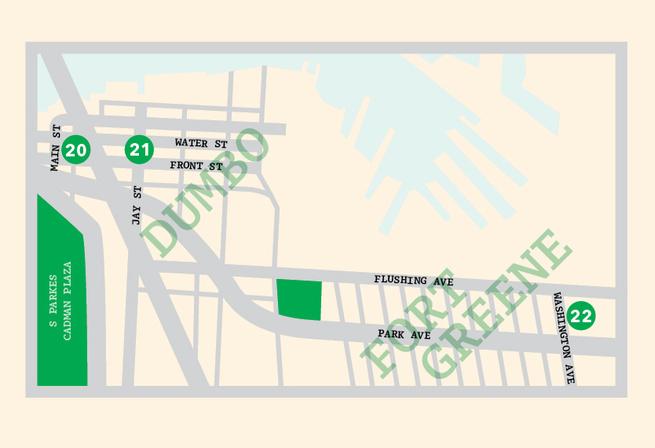 Dumbo New York map illustration