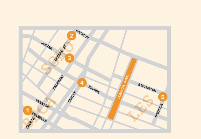 Soho New York map illustration