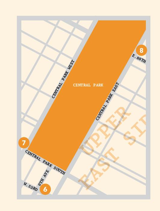 Upper East Side New York map illustration