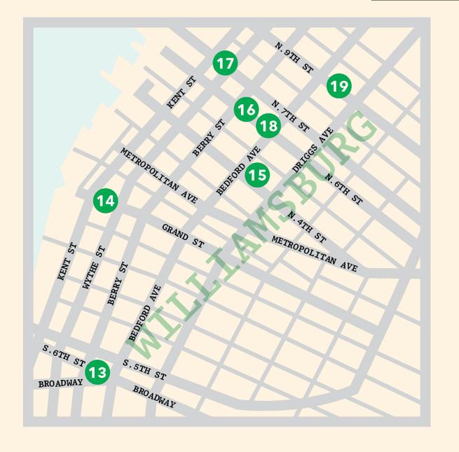 Williamsburg New York map illustration