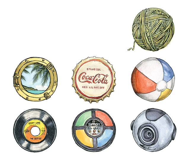 Manufacturing icons illustration