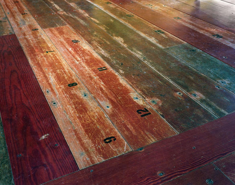 Bleacher wood boards
