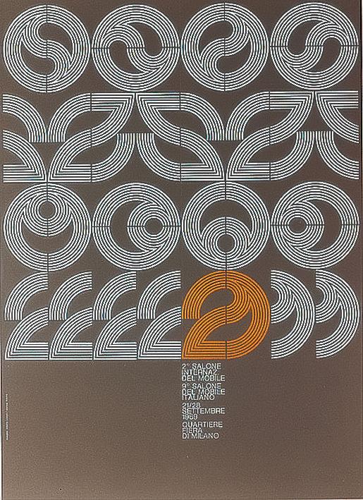 Salone Internazionale del Mobile 1969 Alberto Longhi poster