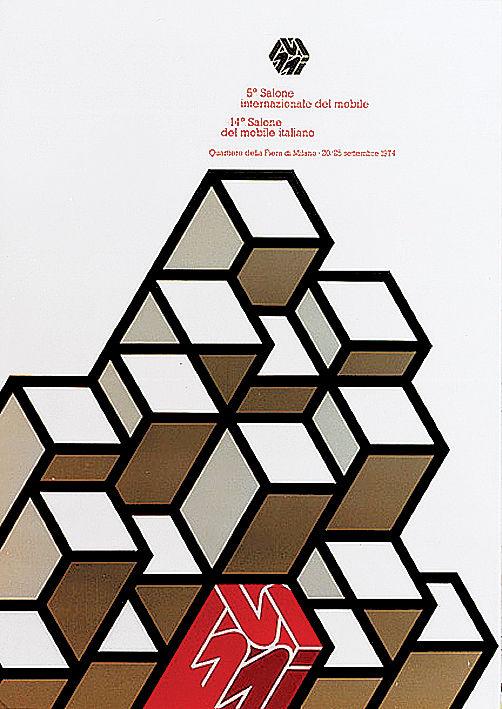 Salone Internazionale del Mobile 1974 Alberto Longhi poster