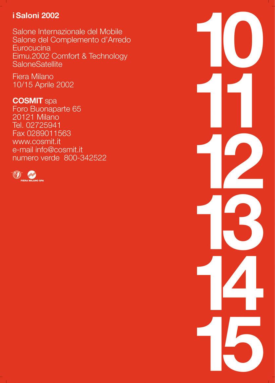 Salone Internazionale del Mobile Massimo Vignelli/Vignelli Associates poster