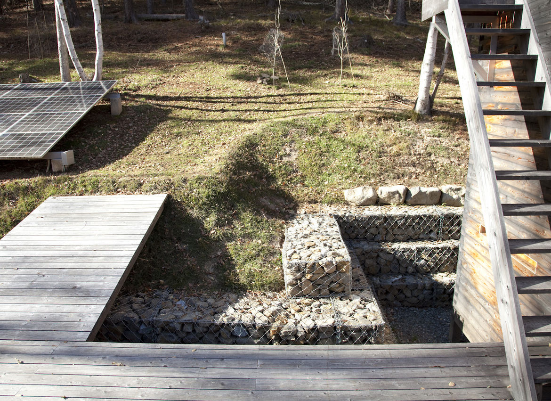 Eco garden with solar arrays