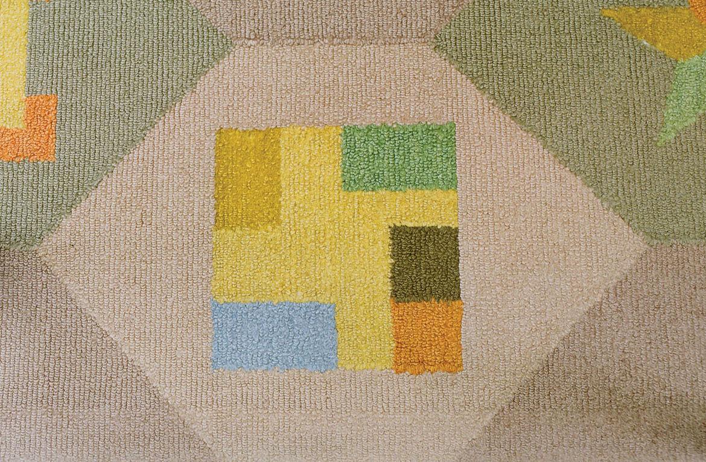 Alexander Girard TV room rug design