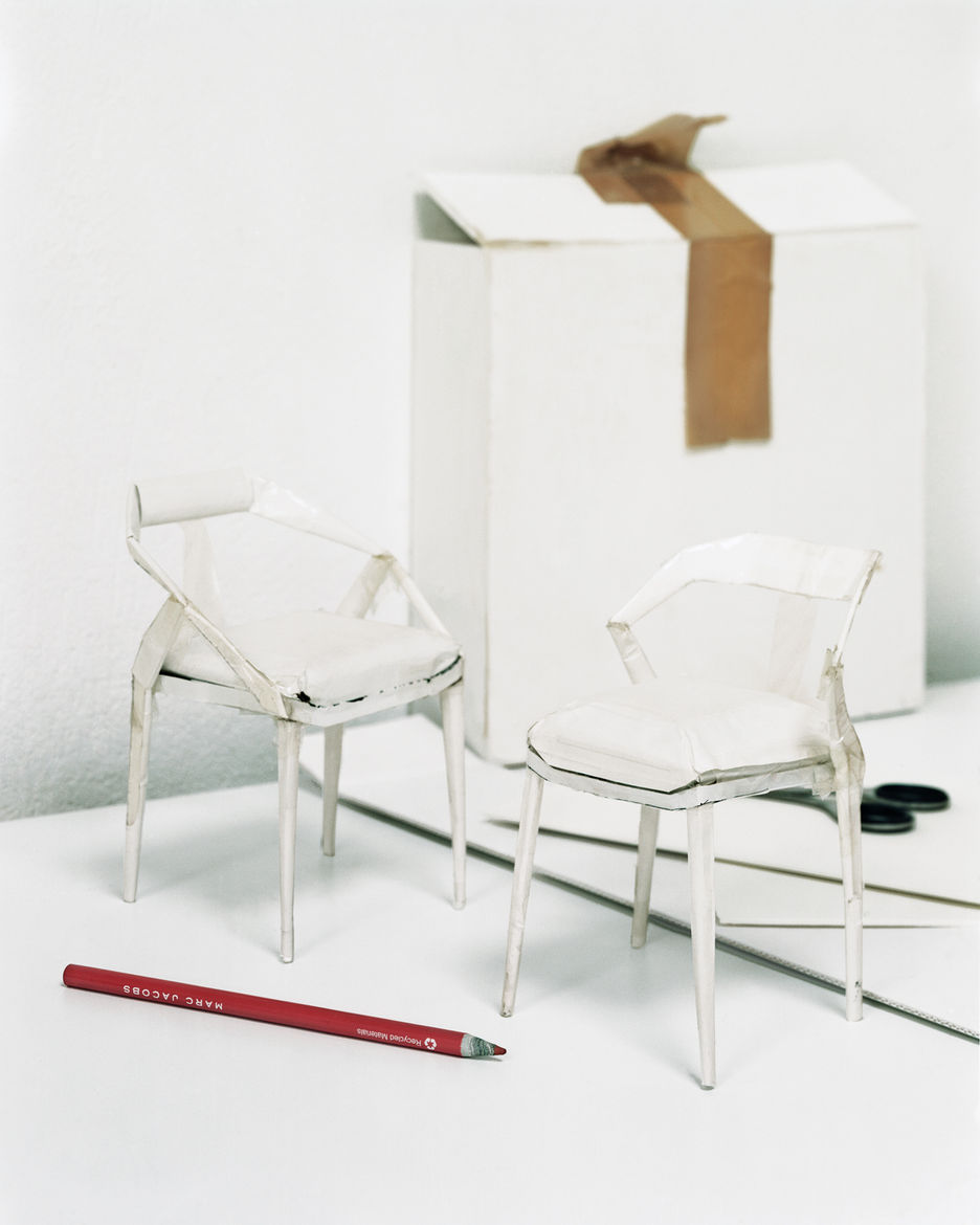 Miniature model chairs by Monica Forster