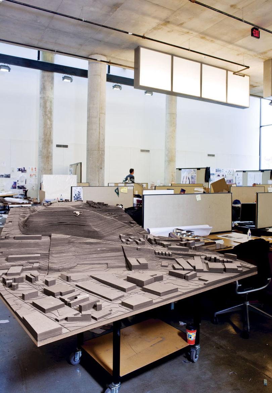 Urban planning model in progress