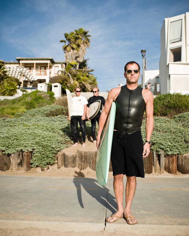 Matt Jacobson in surfing gear