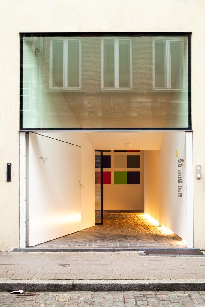Contemporary gallery entrance in Antwerp