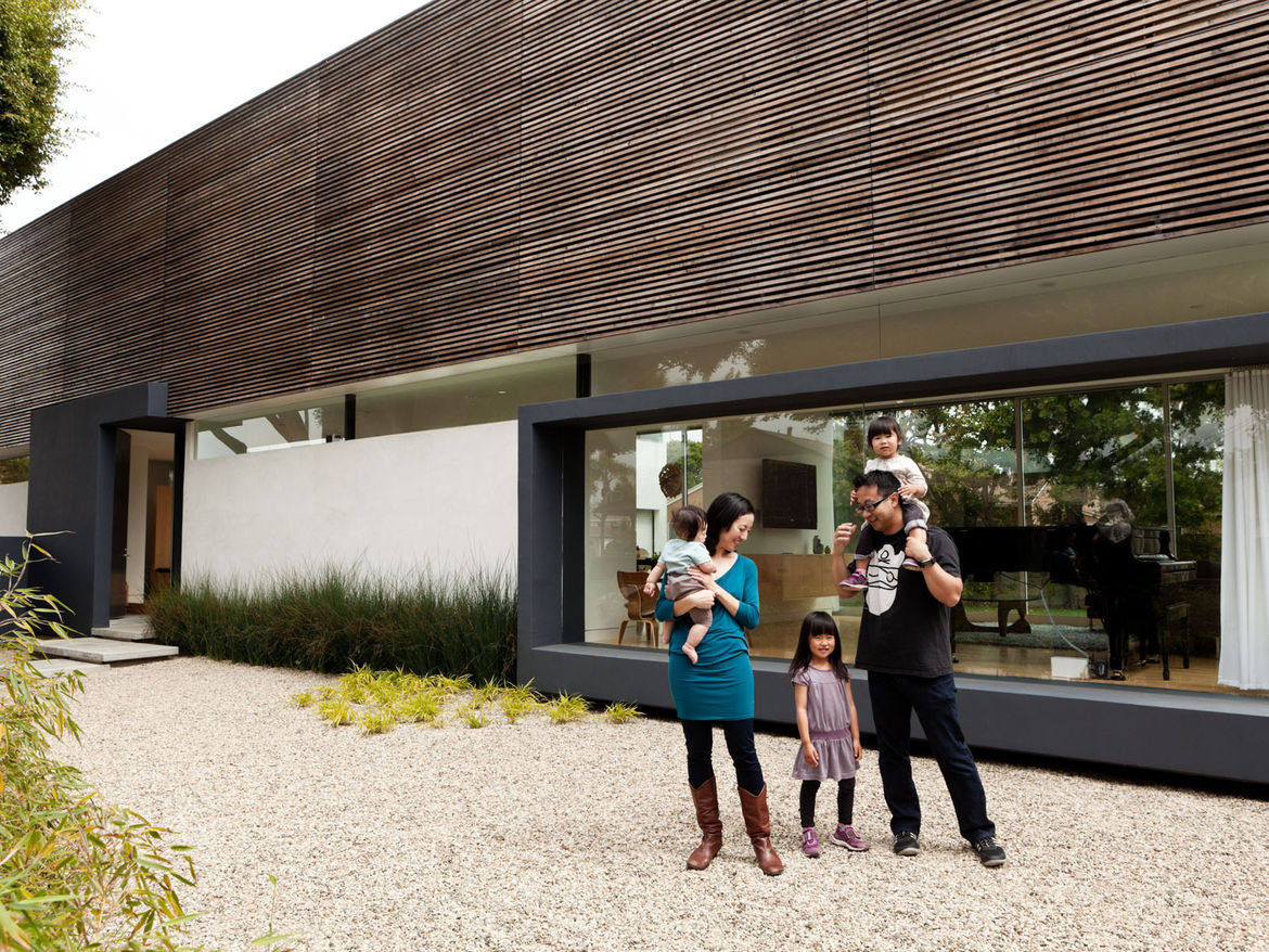 Modern house with solar panels and smart energy systems