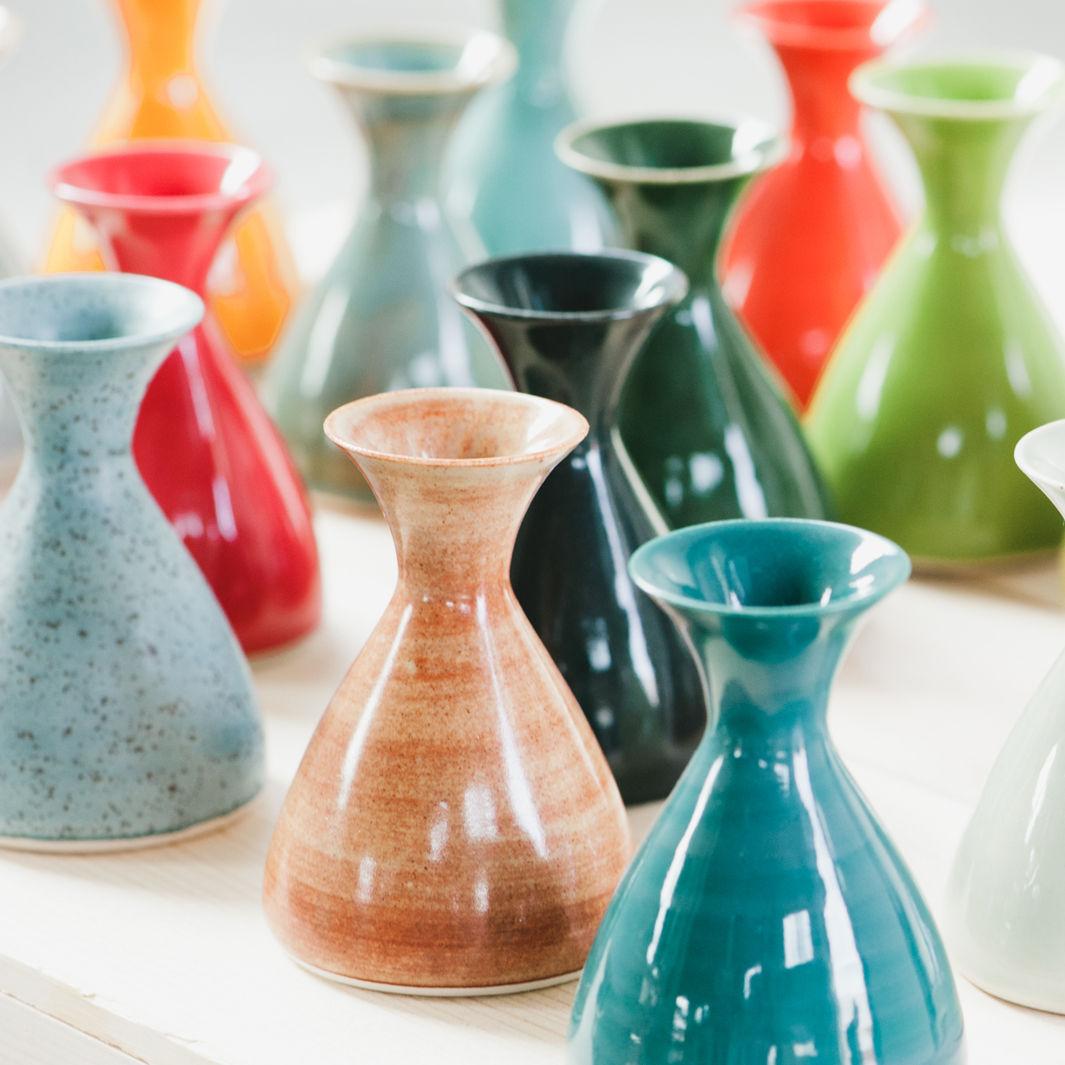 Colorful ceramic Vases