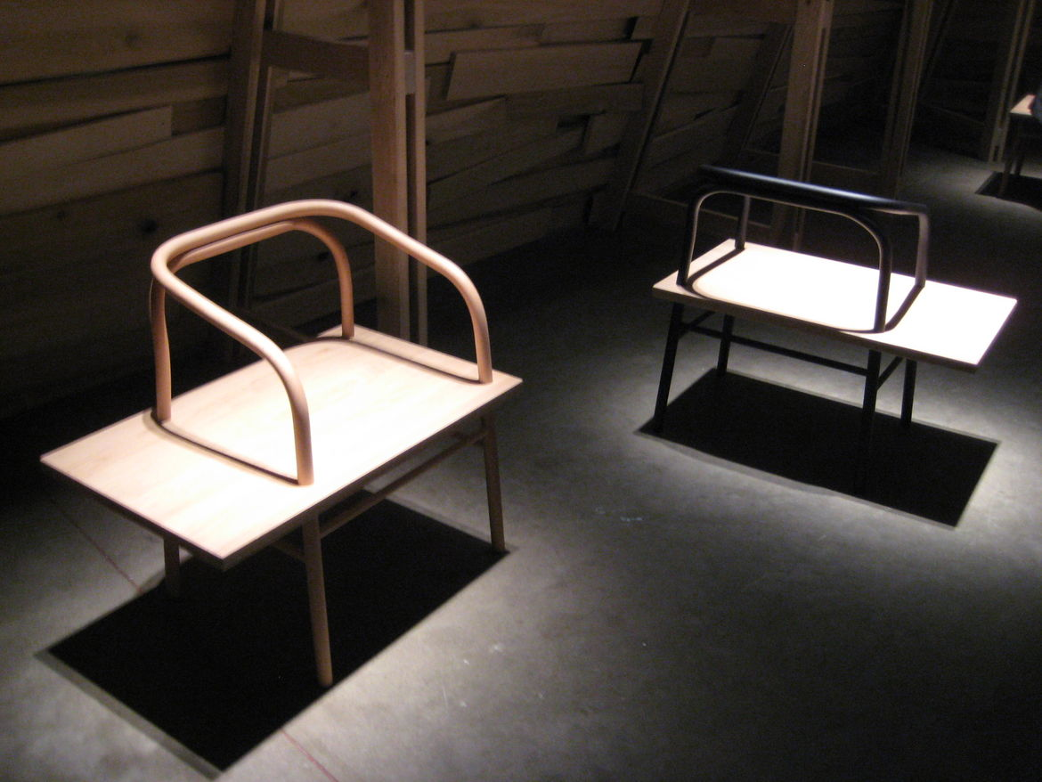 Table, Bench, Chair by Sam Hecht with Industrial Facility was pretty stunning, and seemed to be a favorite at E&S hq.