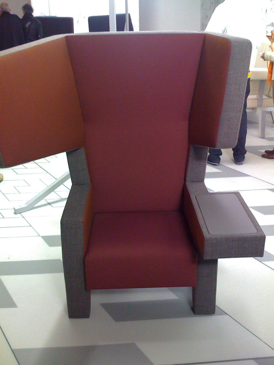 <strong>Ear Chair by Jurgen Bey and Studio Makkink for Prooff</strong><br /> furniture, including this elephantine asymmetrical chair was one of the few displays that pushed boundaries.