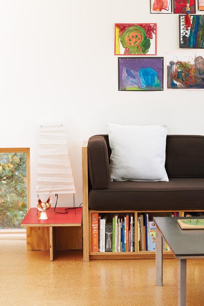 Living room with Akari lamp by Isamu Noguchi