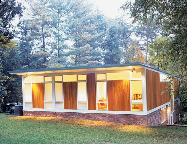 Wilson house exterior backyard