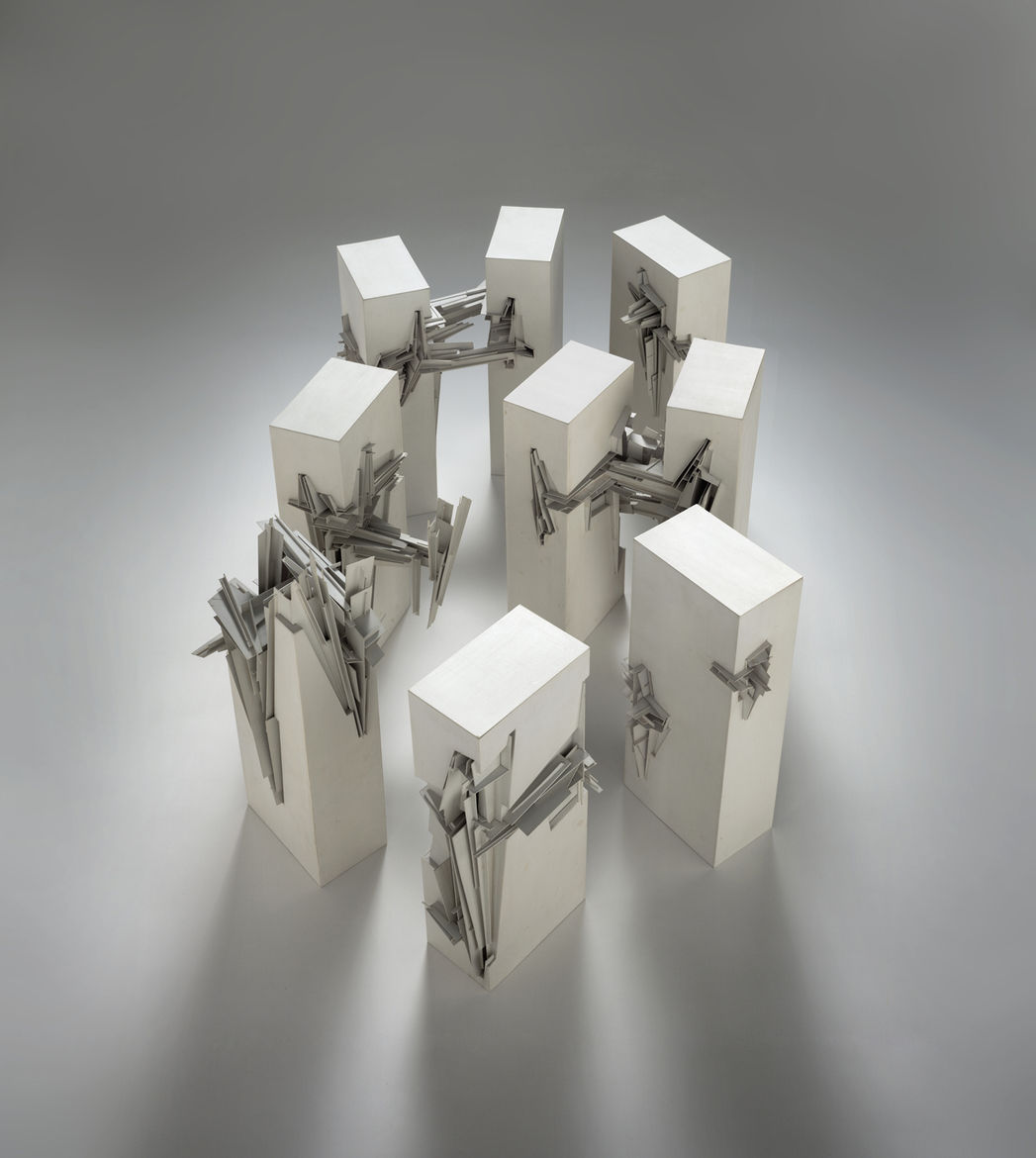 Nine Reconstructed Boxes by Lebbeus Woods