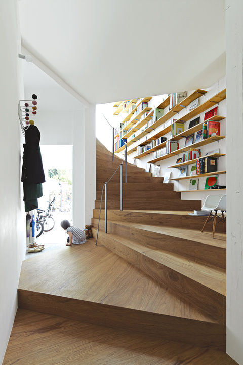 coil house, staircase, tokyo, japan