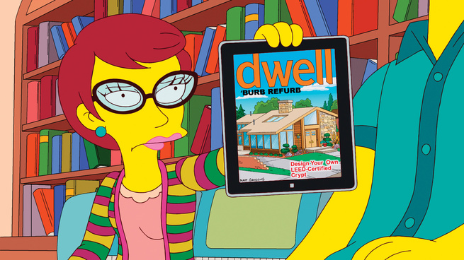 Dwell Magazine on The Simpsons