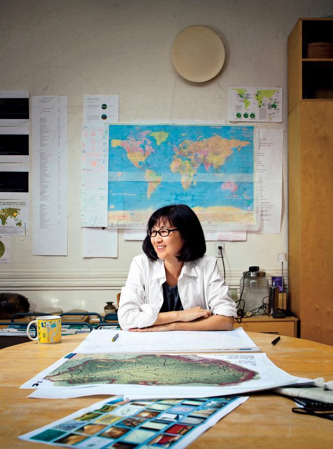 Michael Lewis portrait of Maya Lin.