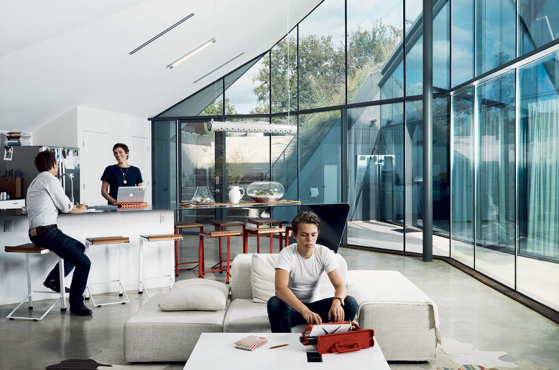 Modern living room with Living Divani sofa
