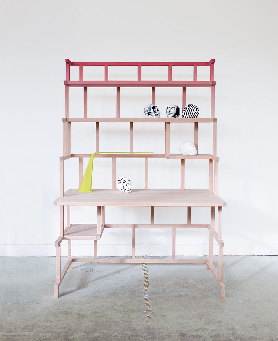 Desk and shelving storage designed by young designers Andréason & Leibel. New furniture for Salone del Mobile.