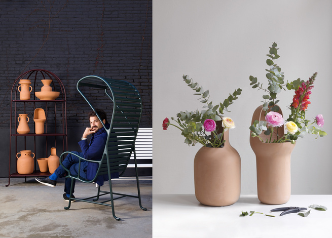 New chair and ceramics furniture by Jaime Hayon for BD Barcelona at Salone del Mobile.