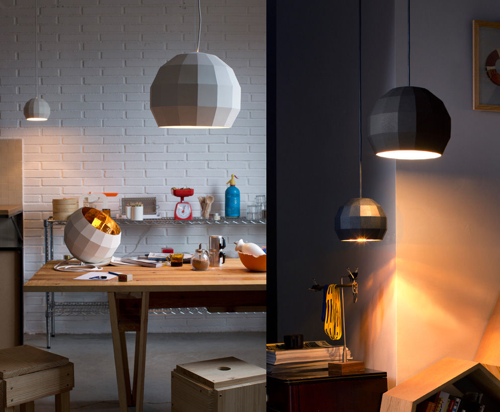 New pieces on view at Euroluce include the ceramic pendant lighting for Marset.