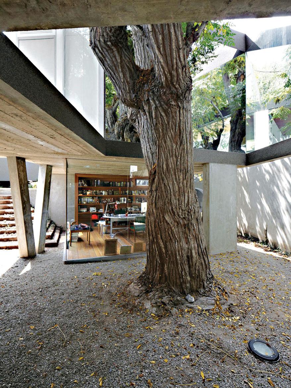 Casa serpiente semi covered walkway