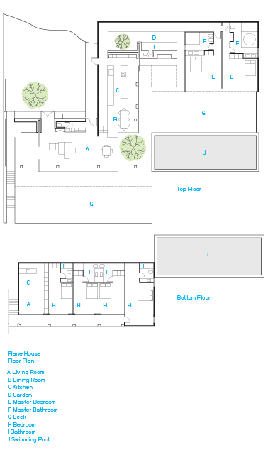 plane house greece floor plan