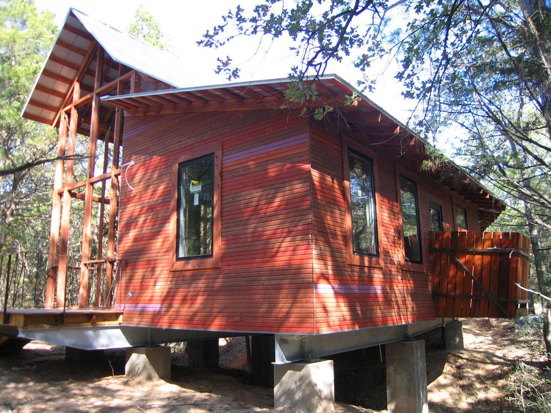 Texas bunkhouse facade.