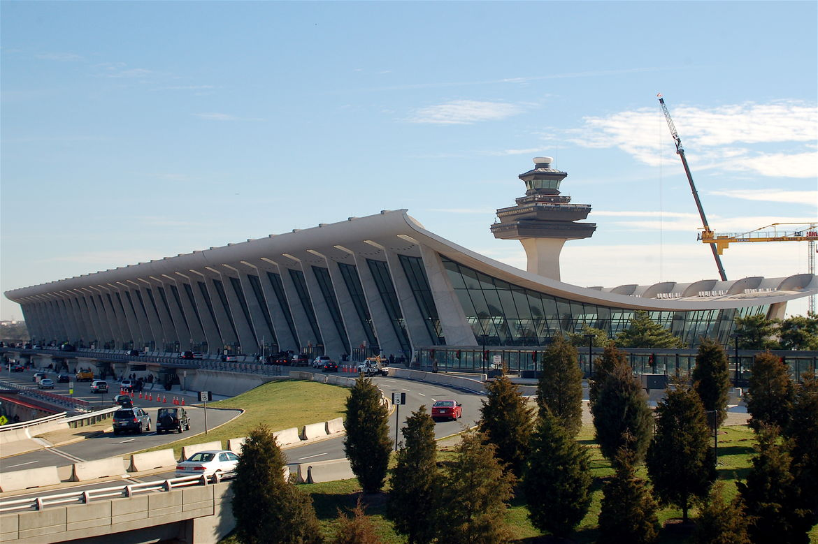 Dulles International Airport in Chantilly, Virginia