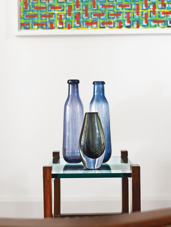 Glass pieces by Gunnel Sahlin for Kosta Boda