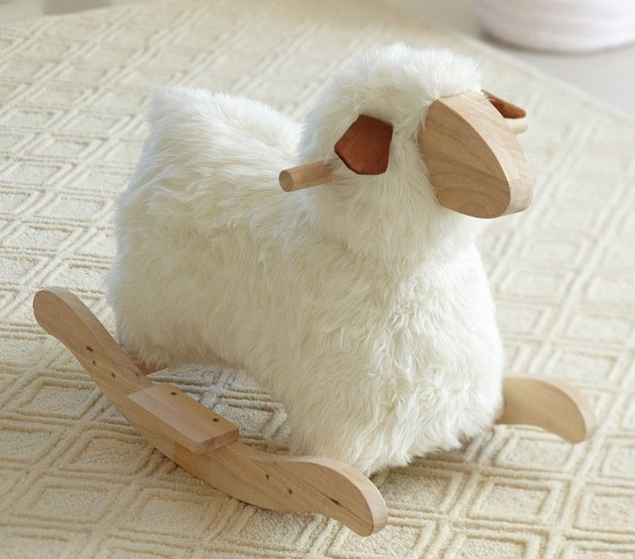 Sheep rocker from Pottery Barn is similar to the Povl Kjer original.