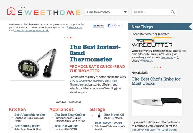 The Sweethome homepage